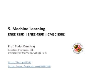 5 . Machine Learning