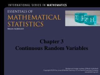 Chapter 3  Continuous  Random Variables