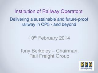 Delivering a sustainable and future-proof railway in CP5 - and beyond