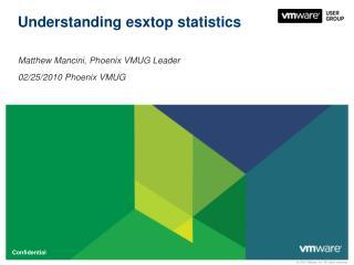 Understanding  esxtop  statistics