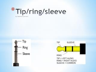 Tip/ring/sleeve by Matthew jennens