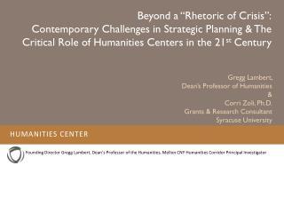 "Beyond  a ""Rhetoric of Crisis"":"
