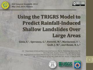 Using the TRIGRS Model to Predict Rainfall-Induced Shallow Landslides Over Large Areas