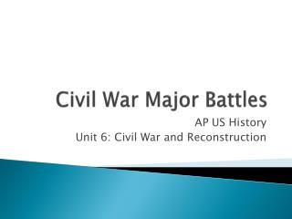 Civil War Major Battles