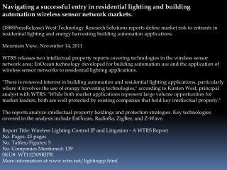 Navigating a successful entry in residential lighting and bu