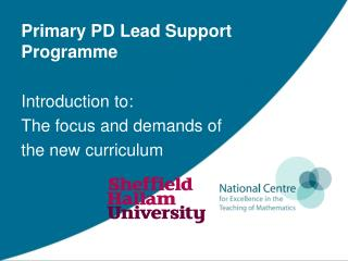 Primary PD Lead Support Programme