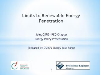 Limits to Renewable Energy Penetration