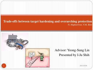 Trade-offs between target hardening and overarching protection N.  Haphuriwat , V.M. Bier