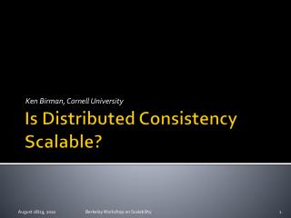 Is Distributed Consistency Scalable?