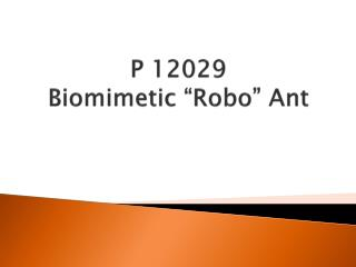 "P 12029 Biomimetic  ""Robo""  Ant"
