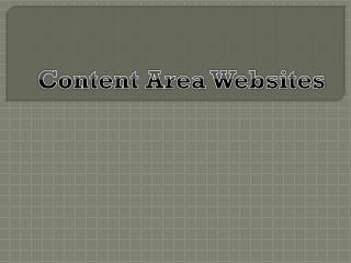 Content Area Websites