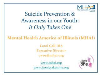 Mental Health America of Illinois (MHAI) Carol Gall, MA Executive Director cwoz@mhai.org