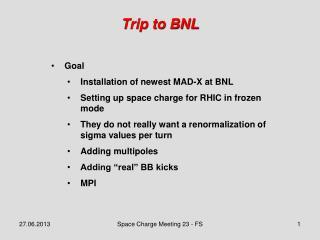Trip to BNL