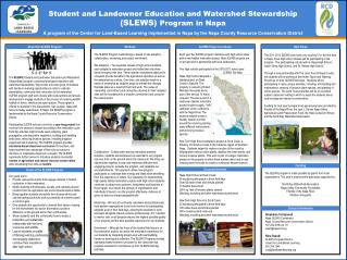 Student and Landowner Education and Watershed Stewardship  (SLEWS)  Program in Napa