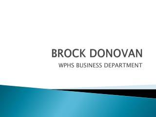 BROCK DONOVAN