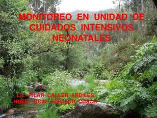 MONITOREO  EN  UNIDAD  DE  CUIDADOS  INTENSIVOS  NEONATALES