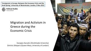 Migration and Activism in Greece during the Economic Crisis