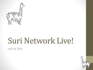 Suri Network Live!