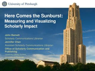 Here Comes the Sunburst: Measuring and Visualizing Scholarly  Impact