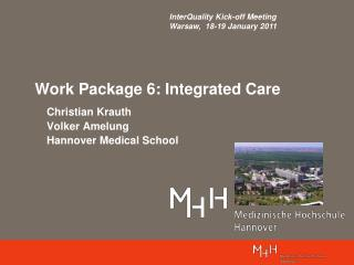Work Package 6: Integrated Care