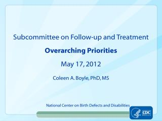 National Center on Birth Defects and Disabilities