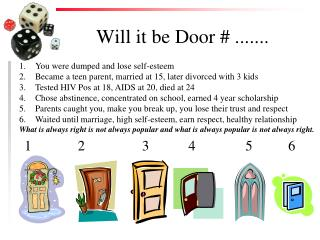 Will it be Door # .......