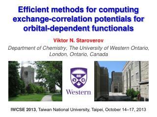 Efficient methods for computing exchange-correlation potentials for orbital-dependent  functionals