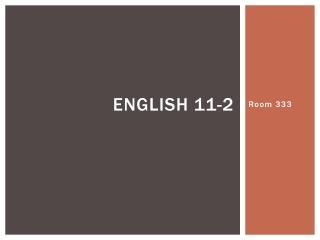 English 11-2