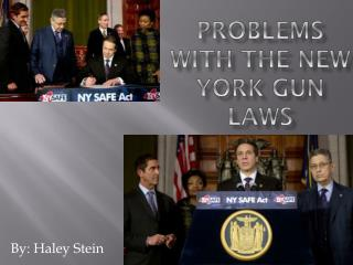 Problems with the New York Gun Laws