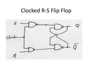 Clocked R-S Flip Flop