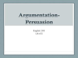 Argumentation-Persuasion