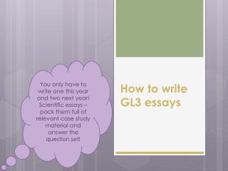 How to write GL3 essays