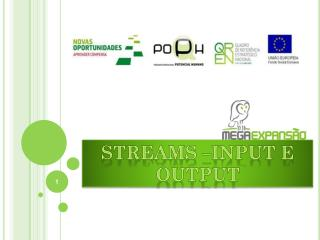 Streams �input  e output