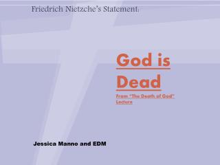 """God is Dead From """"The Death of God"""" Lecture"""