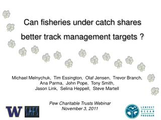 Can fisheries under catch shares better  track management  targets ?