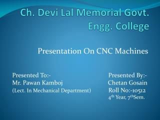 Ch. Devi Lal Memorial Govt. Engg. College