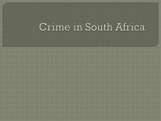 Crime in South Africa
