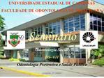 UNIVERSIDADE ESTADUAL DE CAMPINAS FACULDADE DE ODONTOLOGIA DE PIRACICABA  Semin rio Odontologia Social DS- 611 Odontolog