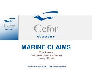 MARINE CLAIMS