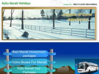 Kullu Manali Holidays