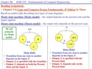 Recall an earlier slide describing two types of state diagrams.