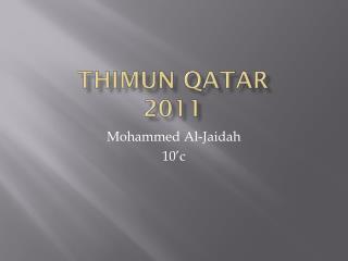 THIMUN QATAR  2011