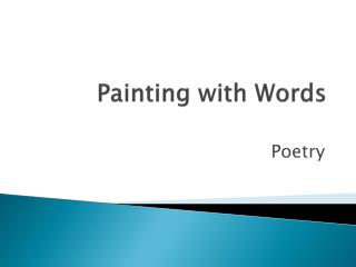 Painting with Words