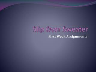 Slip Over Sweater