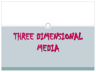 THREE DIMENSIONAL MEDIA