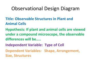 Observational  Design Diagram