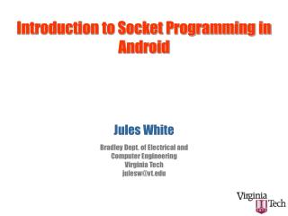 Introduction to Socket  Programming in Android