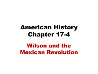 an overview of the mexican revolution and the bad presidency of porfirio diaz That seems the reason why conditions were bad in mexico the mexican revolution: an overview the president of mexico porfirio diaz and the.