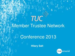 Member Trustee Network Conference  2013