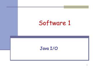Software  1